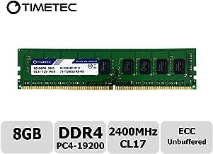 Timetec Hynix IC 8GB DDR4 2400MHz PC4-19200 Unbuffered ECC 1.2V CL17 1Rx8 Single Rank 288 Pin UDIMM Server Memory RAM Module Upgrade (8GB)