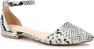 Angkorly - Chaussure Mode Sandale Escarpin élégant BCBG élégant Femme lanière Boucle Peau de Croco Talon Bloc 2 CM