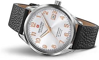 Swiss Military Hanowa - Reloj Analógico para Hombre de Automático con Correa en Cuero SM05-4287-04-001
