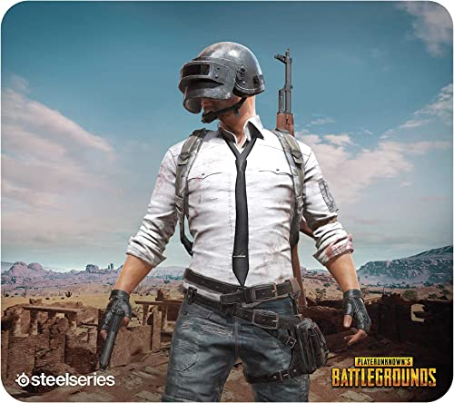 SteelSeries PUBG QcK Gaming Surface - Large Cloth Miramar - Optimized for Gaming Sensors - Maximum Control