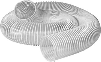 POWERTEC 70111 PVC Dust Collection Hose (4 Inch x 10 Feet) | Flexible Clear Vue Heavy Duty PVC Hose