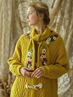 Suéter De Las Mujeres Otoño Invierno Mujer Vintage Espesar Cálido CasualSuelto Suéter Largo Señoras Bordado Hecho A Man...