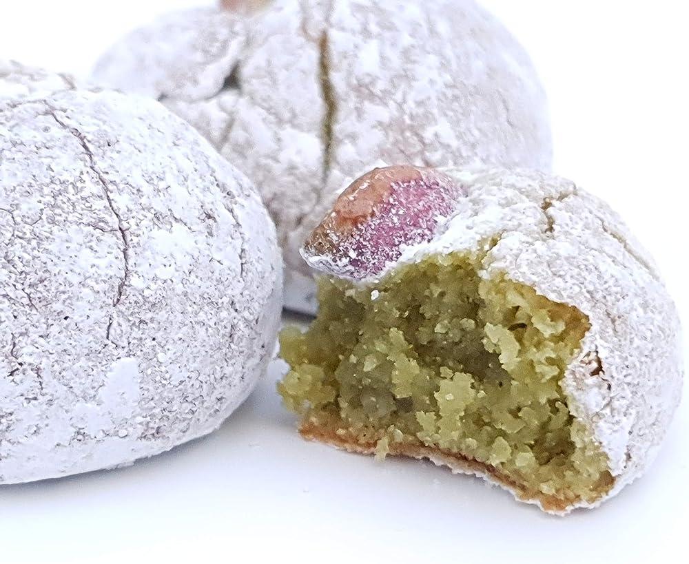 Rarezze,paste di mandorla siciliane al pistacchio , in grazioso box regalo (1 KG),artigianale
