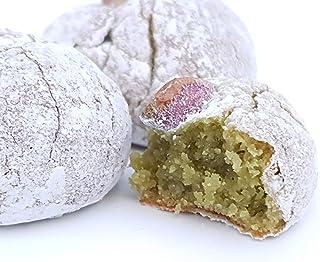 Siciliaanse amandel petit fours met pistachenoten uit Sicilië (doos 1kg). RAREZZE: cannoli en cassate van AMBACHTELIJK Sic...