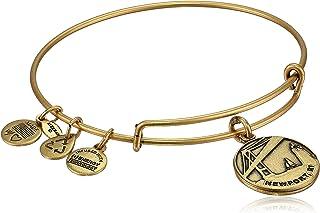 "Alex and Ani ""Places We Love"" Rafaelian Gold-Tone Newport II Expandable Wire Bangle Bracelet, 7.25"""