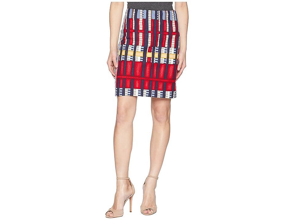 NIC+ZOE Petite Santiago Hills Block Skirt (Multi) Women