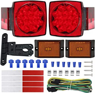 NISUNS Submersible Trailer Tail Lights Kit, Waterproof...