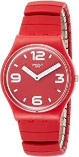 Swatch Unisex-Adult Quartz Watch, Analog Display and Silicone Strap GR173A
