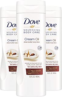 Dove Cream Oil Body Lotion with Warming Vanilla Scent, Moisturizer for Dry Skin Shea Butter Body Lotion For Women 13.5 oz ...