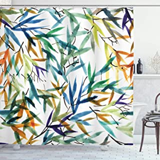 Best bamboo print fabric shower curtain Reviews