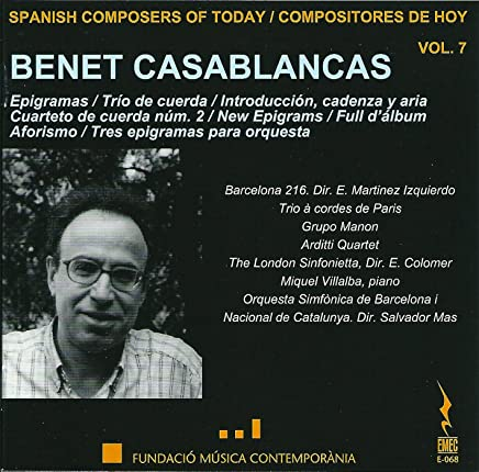 Casablancas: Spanish Composers of Today, Vol. 7