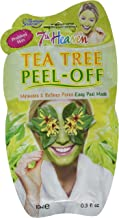 7th Heaven Tea Tree Easy Peel-Off Face Mask with Crushed Witch Hazel and Pressed Willowherb to Minimise and Refine Pores - Ideal for T-Zone and Problem Skin