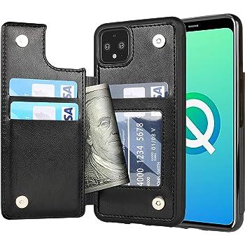 Arae Case for Google Pixel 4XL - Wallet Case with PU Leather Credit Card Holder Pockets Back Flip Cover for Google Pixel 4XL - Black