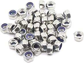 binifiMux 35Pcs M6 x 1.0mm Nylon Inserted Hex Lock Nuts 304 Stainless Steel Silver