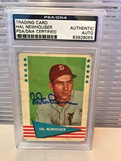 Hal Newhouser Signed Autographed 1961 Fleer Baseball Card PSA DNA COA