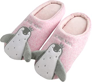 Knitted Penguin Animal Lovers Slippers Non-Slip Soft Memory Foam Home Cozy Slipper Gifts for Men Women Indoor Outdoor