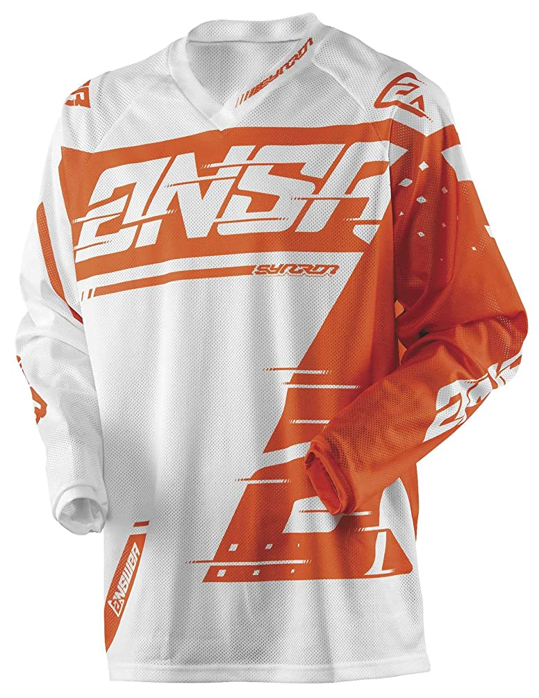 Answer 2018 Youth Syncron Air Jersey (X-LARGE) (WHITE/ORANGE)