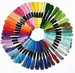 kocean 100% Lang Klammerheftung Baumwolle Stickerei Floss Fäden 50 Farben Freundschaft Armbänder Floss Rainbow Farbe