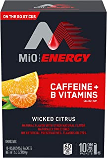 MIO Energy On-The-Go Powdered Drink Mix, Wicked Blue Citrus, 5.2 oz