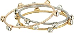 Three-Tone Stud Bangle Set