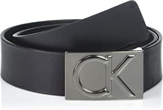 Calvin Klein Men's 38mm Flat Strap Smooth, Matte Leather Belt