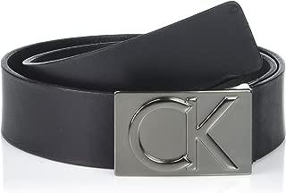 Calvin Klein 男士 38 毫米平带平滑哑光皮带