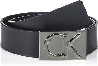 Calvin Klein Men's 38mm Flat Strap Smooth, Matte Leather Belt