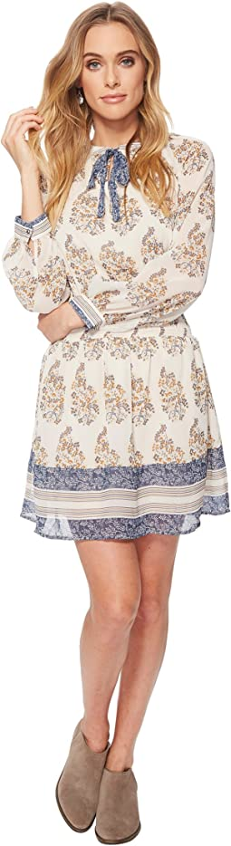 Lucky Brand Drop Waist Printed Dress