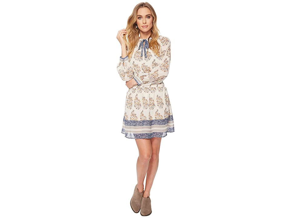Lucky Brand Drop Waist Printed Dress (Natural Multi) Women