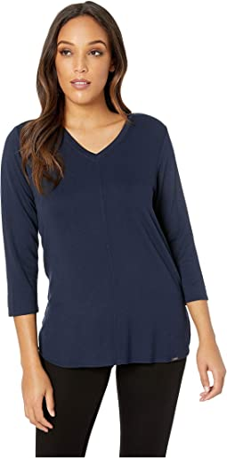 Baby French Terry V-Neck 3/4 Sleeve Top