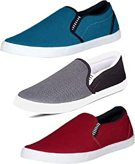 Tempo Men's Combo Pack of 3 Loafers(729/SILVER-6/727)