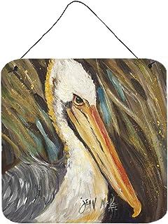 Caroline's Treasures Pelican Lookin West Wall or Door Hanging Prints, 15cm x 15cm