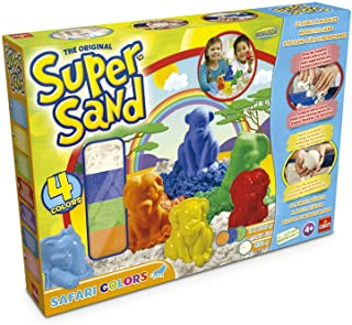 Super Sand - Safari Color, Arena Mágica con Figuras de Animales (Goliath 83226)