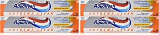 Aquafresh Extreme Clean Whitening Action Toothpaste, 5.6-Ounce (Pack of 4)