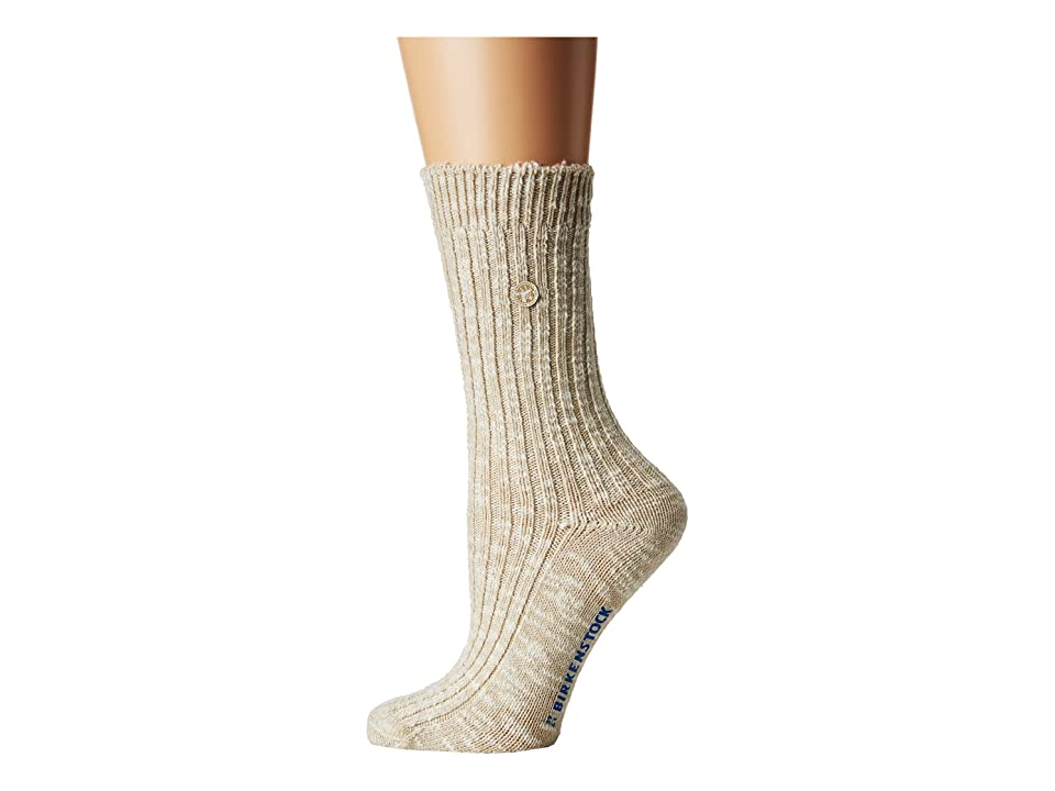 Birkenstock Cotton Slub Socks (Beige/White) Women