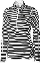 Cutter & Buck NCAA Long Sleeve 3/4 Zip Trevor Stripe Overknit