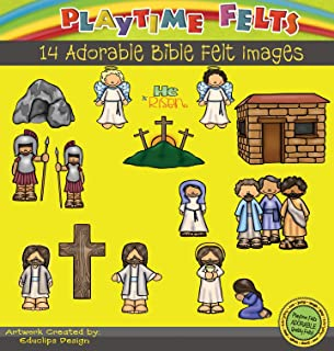 Playtime Felts He is Risen Bible Story Set for Flannel Board - Uncut