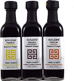 Kouzini Tropical vinegar set. 3-Pack 60ml mini bottles. Summer Edition