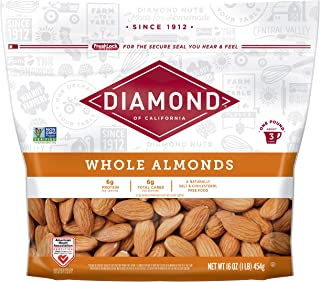 Diamond of California Whole Almonds, 16 Ounce (Pack of 12) (Packaging May Vary)