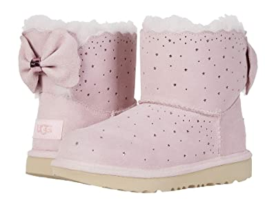 UGG Kids Mini Bailey Bow II Starry Lite (Little Kid/Big Kid) (Seashell Pink) Girl