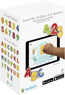 Marbotic Bundle Smart Letters + Smart Numbers - Connected Wooden Toys for Tablets Connected Toys