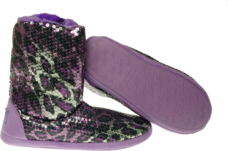 Blazin Roxx Ladies Sequin Leopard Boot Slipper