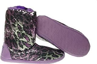Blazin Roxx Mens Sequin Animal Print Bootie Slippers