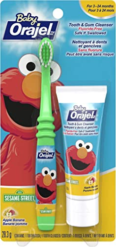 Orajel Baby Tooth and Gum Cleanser with Baby Toothbrush, 28.3-g