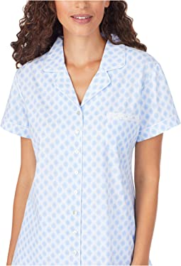 Cotton Jersey Knit Cap Sleeve Capri Pajama Set