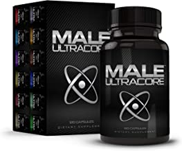 Male UltraCore Male Enhancement Supplements (1 Month Supply) – All-Natural Endurance, Drive & Muscle Growth Booster – 120 caps per Bottle