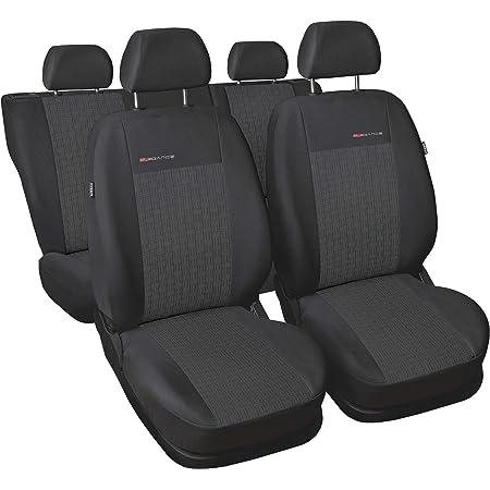 Carpendo Sitzbezüge Auto Set Autositzbezüge Schonbezüge Dunkelgrau Grau Vordersitze Und Rücksitze Mit Airbag System P1 Auto