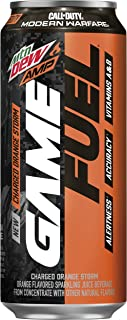Mountain Dew Amp Game Fuel, Charged Orange Storm, 16 Fl Oz. Cans (12 Pack)