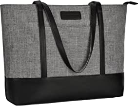 Laptop Tote Bag,Fits 15.6-17 Inch Laptop,Womens Lightweight Water Resistant Nylon Tote..