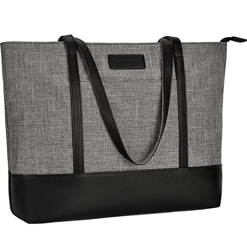 1698e75856a Laptop Tote Bag,Fits 15.6 Inch Laptop,Womens Lightweight Water Resistant  Nylon Tote Bag